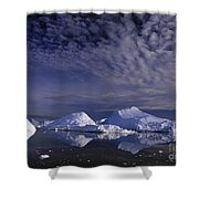 Greenland Midnight Sun Shower Curtain
