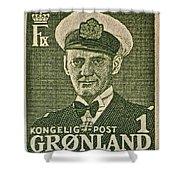 Greenland Stamp Circa 1950 Shower Curtain