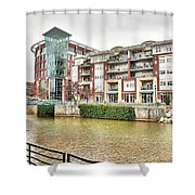 Greenville River Front Shower Curtain
