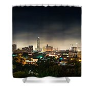 Greenway Plaza And The Galleria Shower Curtain