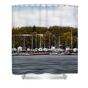 Greenwich Harbor Shower Curtain by Lourry Legarde