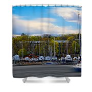 Greenwich Marina Shower Curtain