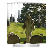Greenwood Cemetery Shower Curtain