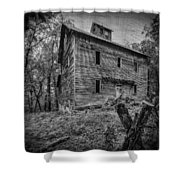Greer Mill Black And White Shower Curtain