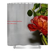 Greeting Of Love Shower Curtain