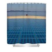 Greetings To The Sun Zadar Installation Shower Curtain