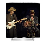Greg Brown And Bo Ramsey In Concert Shower Curtain