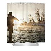 Greg Houska Fly Fishing On The Provo Shower Curtain