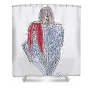 Greg Kristi Unfinished Shower Curtain
