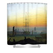 Greifswald Harbour Shower Curtain