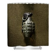Grenade Shower Curtain by Margie Hurwich