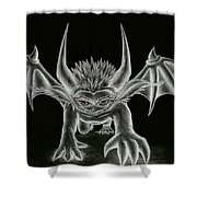 Grevil Statue Shower Curtain