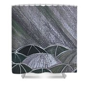 Grey Rain 2 By Jrr Shower Curtain
