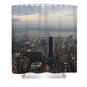 Grey Sky Over Manhattan Shower Curtain