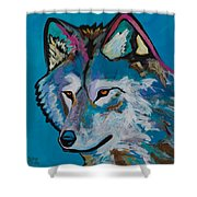 Grey Wolf Shower Curtain