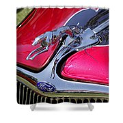 Greyhound On A Ford Shower Curtain