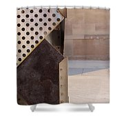 Grid And Block 2 Shower Curtain