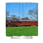 Griesemers Mill Covered Bridge Berks County Pennsylvania Shower Curtain