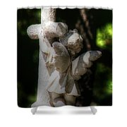 Angel Hug Shower Curtain