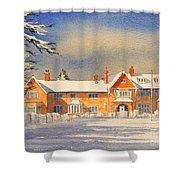 Griffin House School - Snowy Day Shower Curtain
