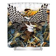 Griffin In Waterfall Shower Curtain
