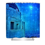 Griffith Park Observatory At Night Shower Curtain