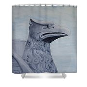 Griffon Statue Shower Curtain