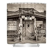 Griffs On The Dock Shower Curtain