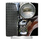 Grill And Headlight Shower Curtain