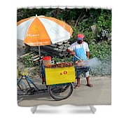 Grill-to-go Shower Curtain
