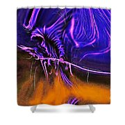 Grim Reaper In Abstract Shower Curtain