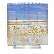 Grind Stone City Shower Curtain