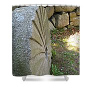 Grinding Stone Shower Curtain
