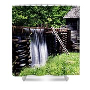 Grist Mill And Water Trough Shower Curtain