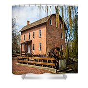 Grist Mill In Deep River County Park Shower Curtain