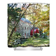 Grist Mill In Fall Shower Curtain