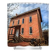 Grist Mill In Northwest Indiana Shower Curtain by Paul Velgos