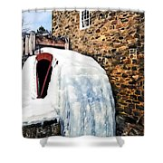 Grist Mill In Winter Shower Curtain
