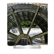 Grist Mill Wheel With Spillway Shower Curtain