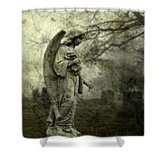 Dark And Gritty Fog Shower Curtain