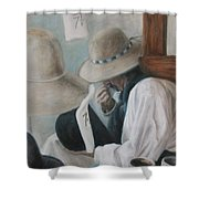 Griz The Hatter Shower Curtain