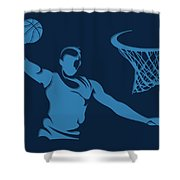 Grizzlies Shadow Player1 Shower Curtain