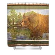 Grizzly Shower Curtain by Rick Huotari