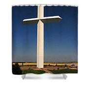 Groom Texas Cross Shower Curtain