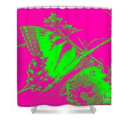 Groovy Butterfly Shower Curtain