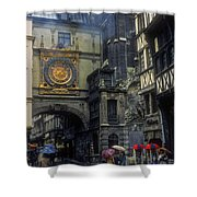 Gros-horloge Shower Curtain