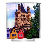 Gross St. Martin In Cologne Germany Shower Curtain