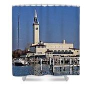 Grosse Point Yacht Club Shower Curtain