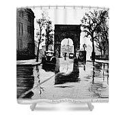 Grossman Square, C1940 Shower Curtain