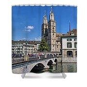 Grossmuenster Zurich Shower Curtain